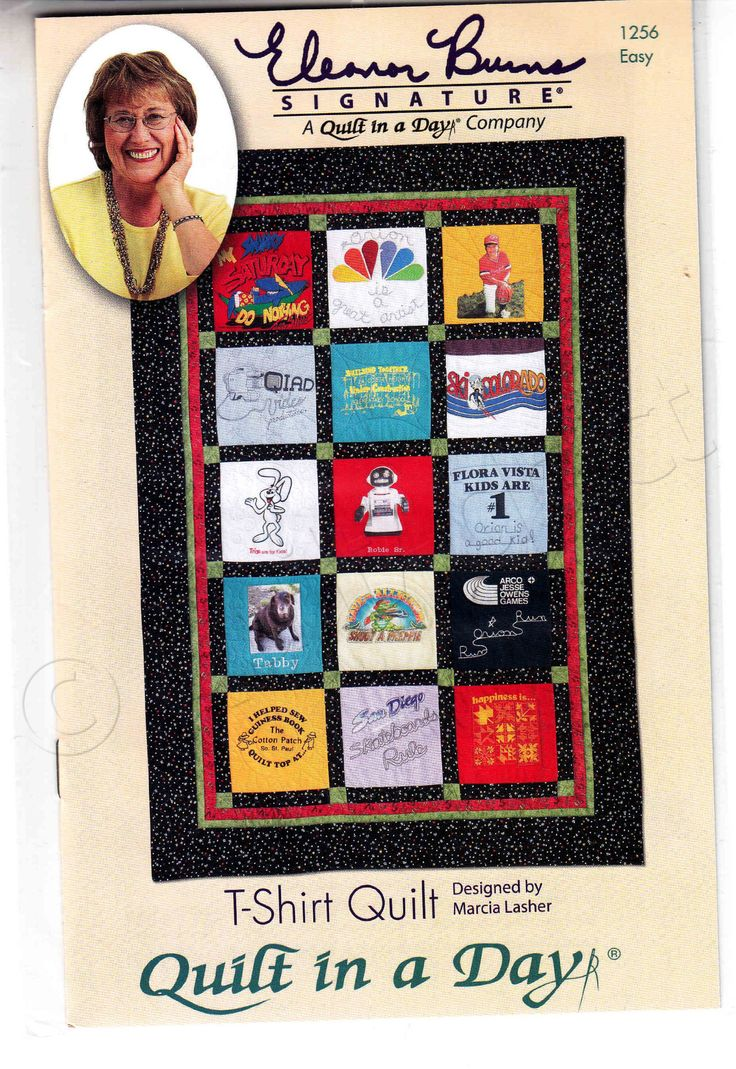 19% Off Retail Great T-Shirt Quilt Pattern. What could be better than giving a personalized Graduation or Birthday Quilt as a gift? Use the T-Shirt Transformational Ruler to make the project a breeze.