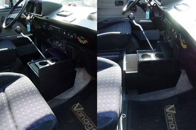 Center Console with Cup Holders and Storage