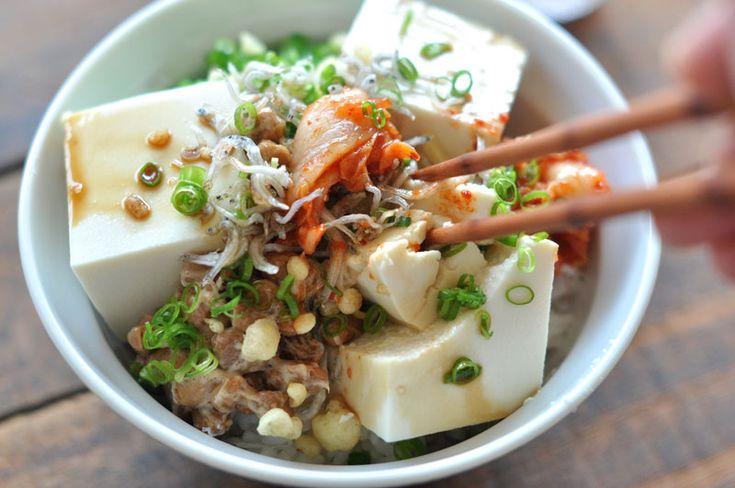 簡単美味しい豆腐丼のレシピ/作り方