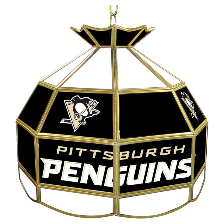 Pittsburgh Penguins Stained Glass Tiffany Lamp - 16 inch