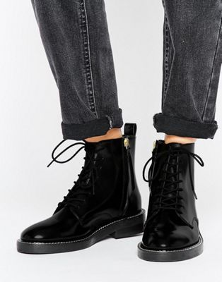 ASOS ANTARTICA Leather Lace Up Ankle Boots