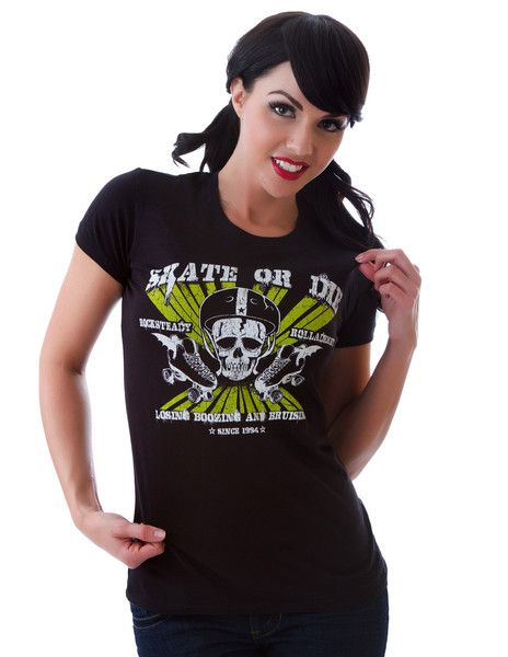 Tričko Rock Steady - Skate or Die Tee Black