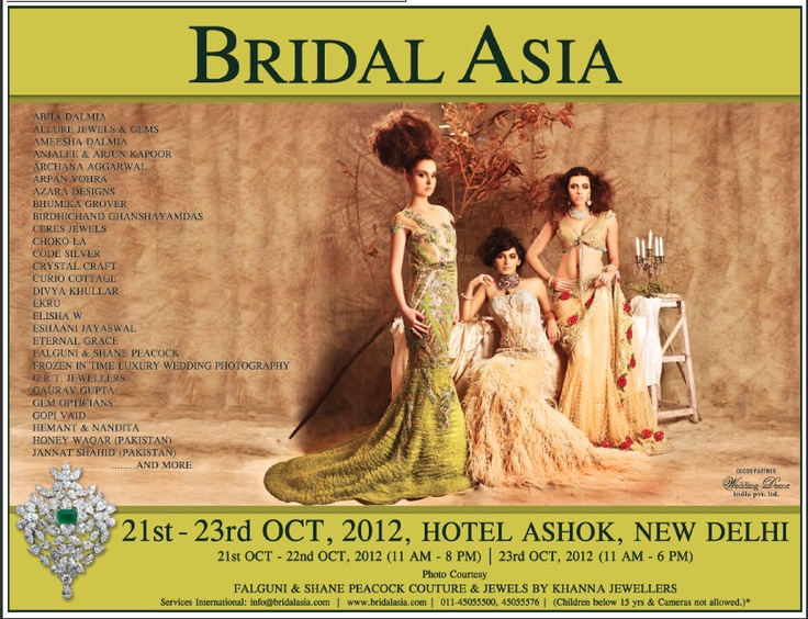 """Advertisement in Delhi Times 14.10.2012    Looking forward to see you all at our booth """"Frozen In Time- Luxury Wedding Photography"""" in Bridal Asia, Hall B, 21-22-23 Oct, 2012, Hotel Ashok, New Delhi    E: contactfrozenintime@gmail.com"""