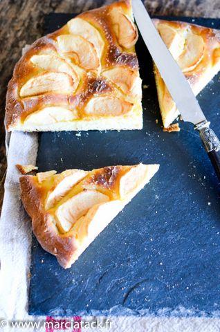 Tarte aux pommes briochée - Recette - Marciatack.fr : recettes faciles | Tout pour cuisiner !
