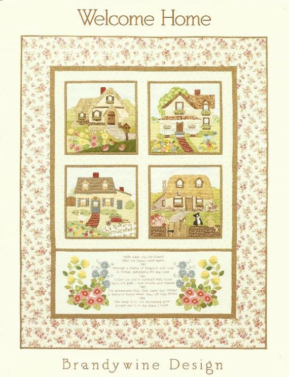 Cottages Gardens Floral Quilt Pattern Welcome Home