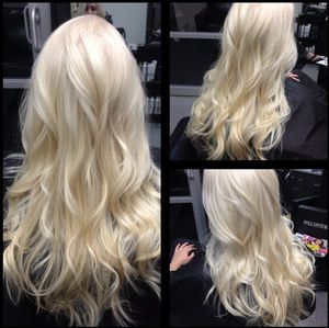 Try standing out with a platinum blonde color