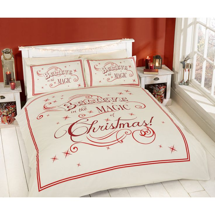 Christmas Double Duvet Set - Magic of Xmas! Take Christmas to the bedroom with these bedding sets. Includes: 1 x duvet cover, 2 x pillowcases. 4 designs