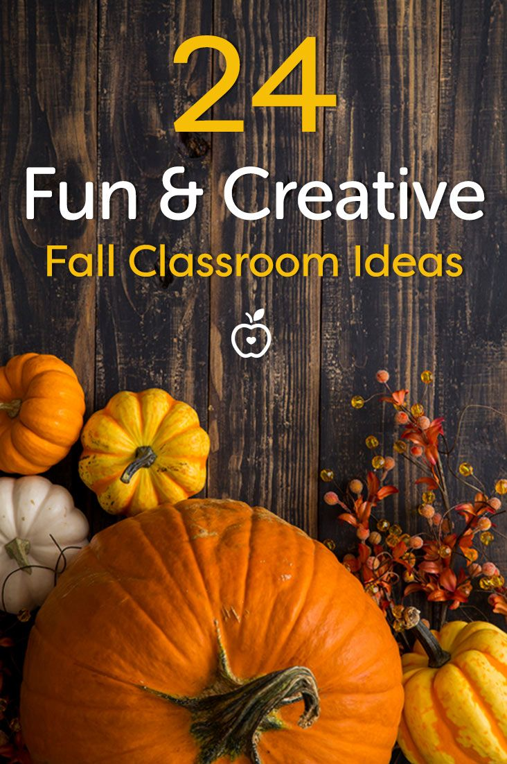 From classroom decorating ideas to fun DIY projects for the whole class, we've gathered 24 of our favorite fall-themed ideas for teachers.