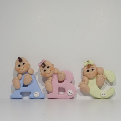 Baby character letters. NO INSTRUCTIONS. Just to cute