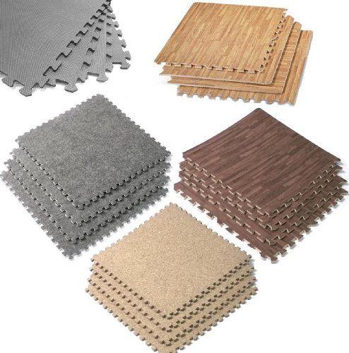 EVA Mats Soft Foam Playroom Garage Tradeshow Gym Workout Interlocking Flooring Floor Cover Tiles Top Wood Grain... $19.99 (98% OFF)