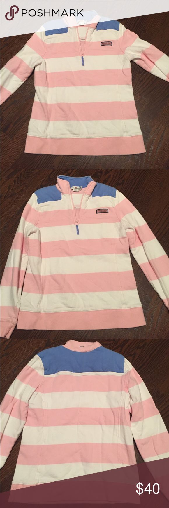 Women's Vineyard Vines Shep Shirt Great summer pullover! Worn a couple of times, but in great conditions and no signs of wear. Vineyard Vines Tops Sweatshirts & Hoodies
