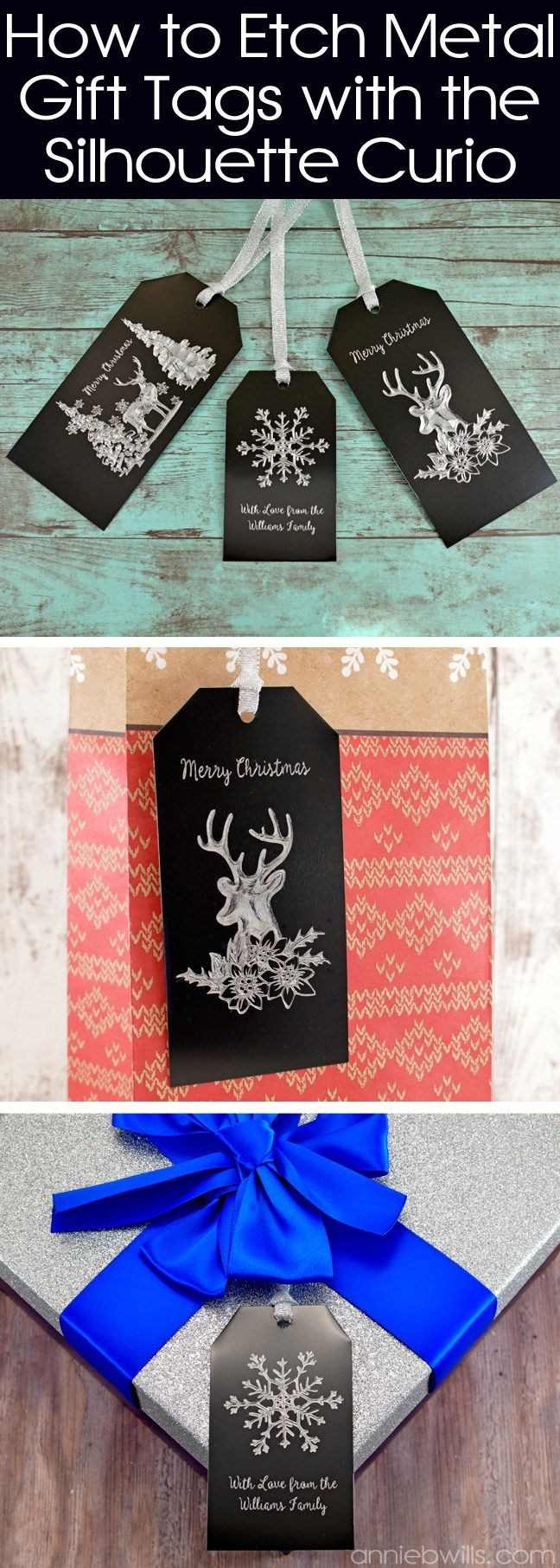 Metal Etched Gift Tags with the Silhouette Curio