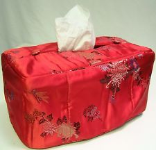 Asian Inspired Brocade Fabric Tissue Box Holder Cover (12 Patterns)