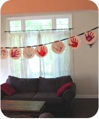 Baby hand print banner - great gift idea too!