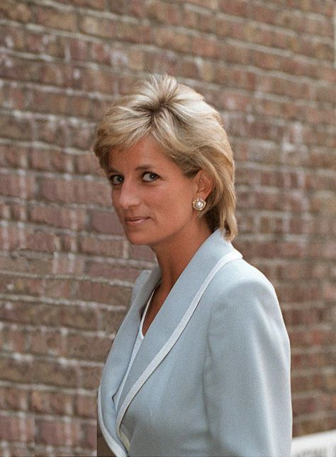 Princess Diana on the day her divorce is finalized attends the English National Ballet lunch function, April 28, 1996.