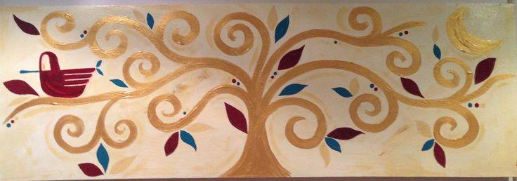 #albero della vita Acrilici su tela