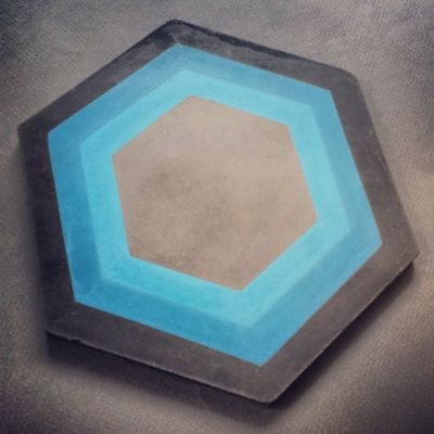 Kismet Tile makes these hexagon tiles that you can do in ANY colorway....totally custom. Worth thinking about for your project.