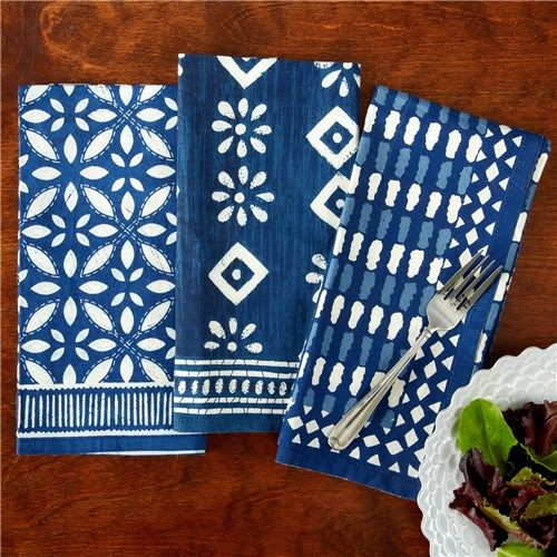 Batik Print Luncheon Napkin Set Of 4