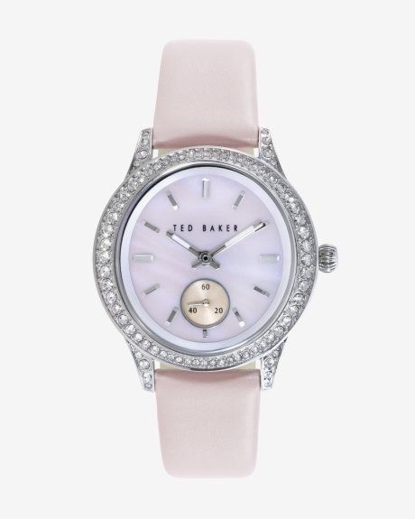 Embellished face watch - Pink | New Arrivals | Ted Baker