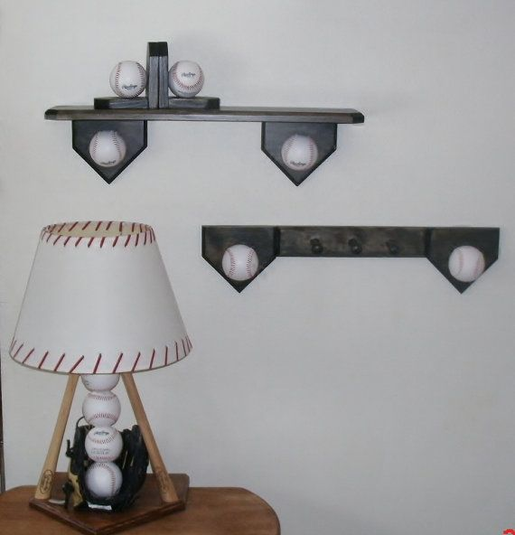 Baseball bedroom collection includes lamp by Midwestclassiccrafts, $139.95