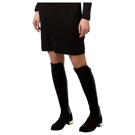Buy Carvela Pacific Knee High Boots, Black Suede Online at johnlewis.com