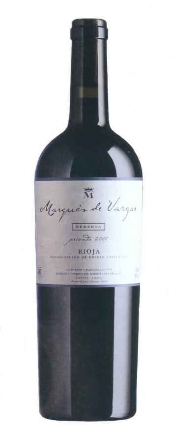 Marqués de Vargas Reserva 2005, Vino tinto