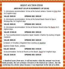 silent auction flyer ideas
