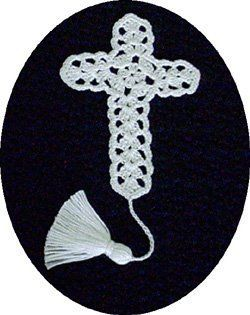 Perfect Crochet Cross - I remember my Mom having a crochet cross in her Bible that her Auntie made for her.