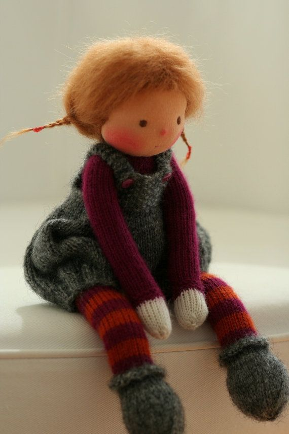Custom order for Jean Waldorf knitted doll 13 by by danielapetrova
