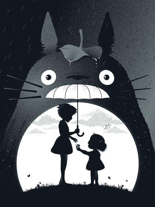 My Neighbor Totoro by Guillaume Morellec, via Behance