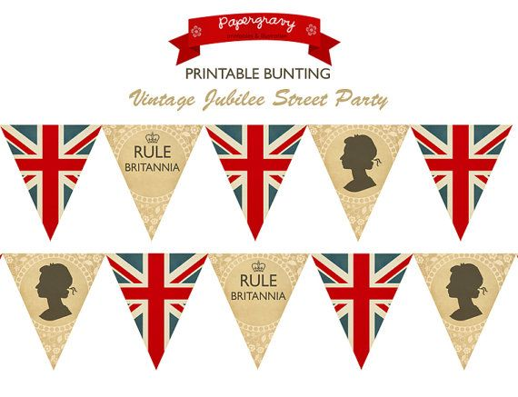 Printable British Party BUNTING Union Jack FLAG