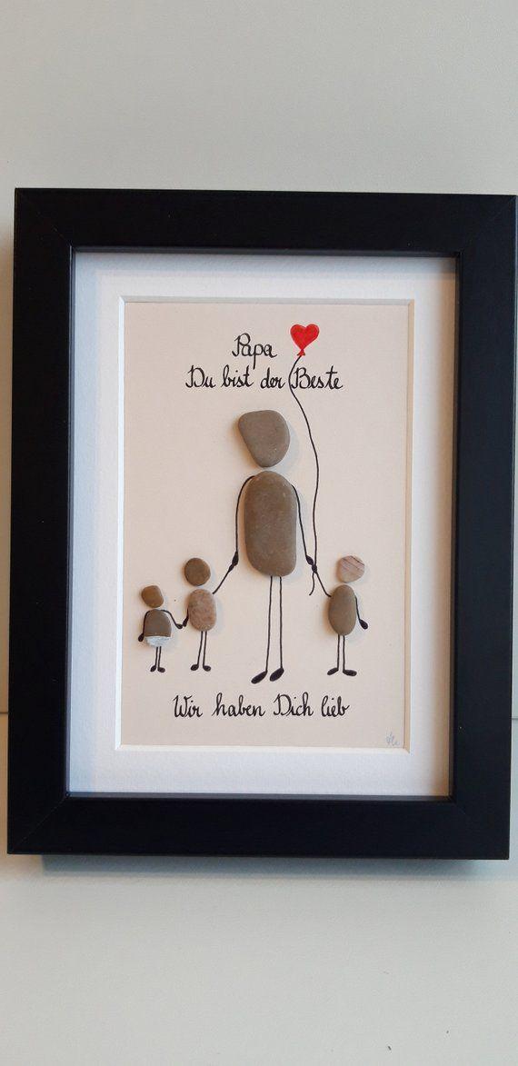 Happy Happy Family Steinbild Diy Geschenke Papa Vatertag