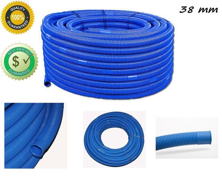 Poolschlauch Schwimmbadschlauch Schlauch Ø 38 mm 1,5m - 100m Blau Saugschlauch