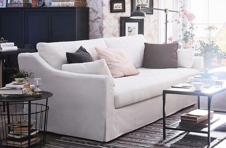 It appeals to a young and hip audience, as it mak. Risultati immagini per ikea farlov sofa   White sofa ...
