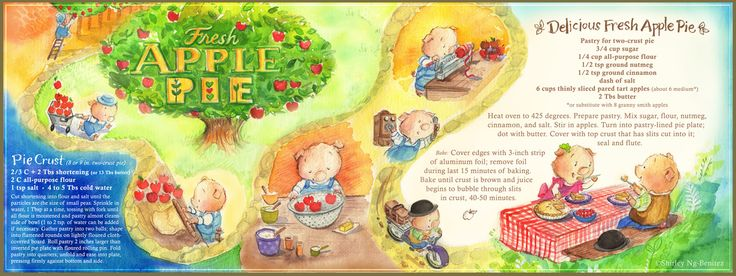 Renee's Fresh Apple Pie by Shirley Ng-Benitez Illustration