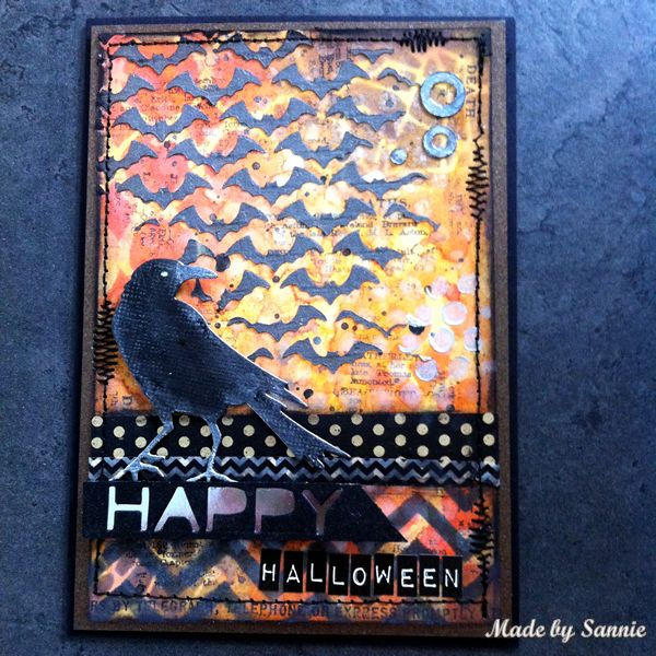Made by Sannie: Shimmer and Shine Halloween card with video tutorial - #sssmchallenge - Join us for the @Simonsaysstamp Monday Challenge where the theme is shimmer and shine!
