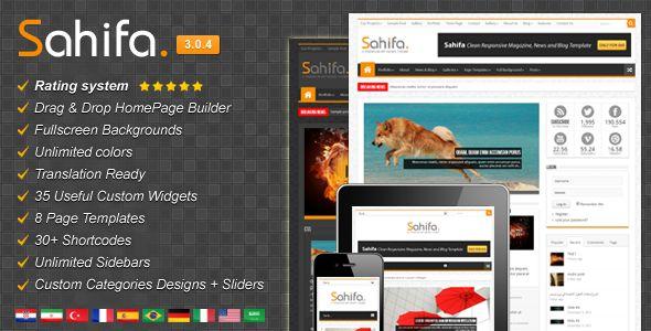 ThemeForest - Sahifa - Responsive WordPress News,Magazine,Blog v3.0.4
