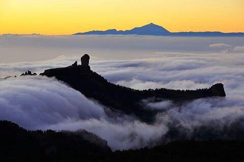 Atardece en la cumbre de Gran Canaria