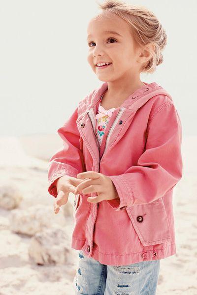 英國代購童裝NEXT 2015春夏新款女寶寶女童百搭粉色連帽外套 夾克