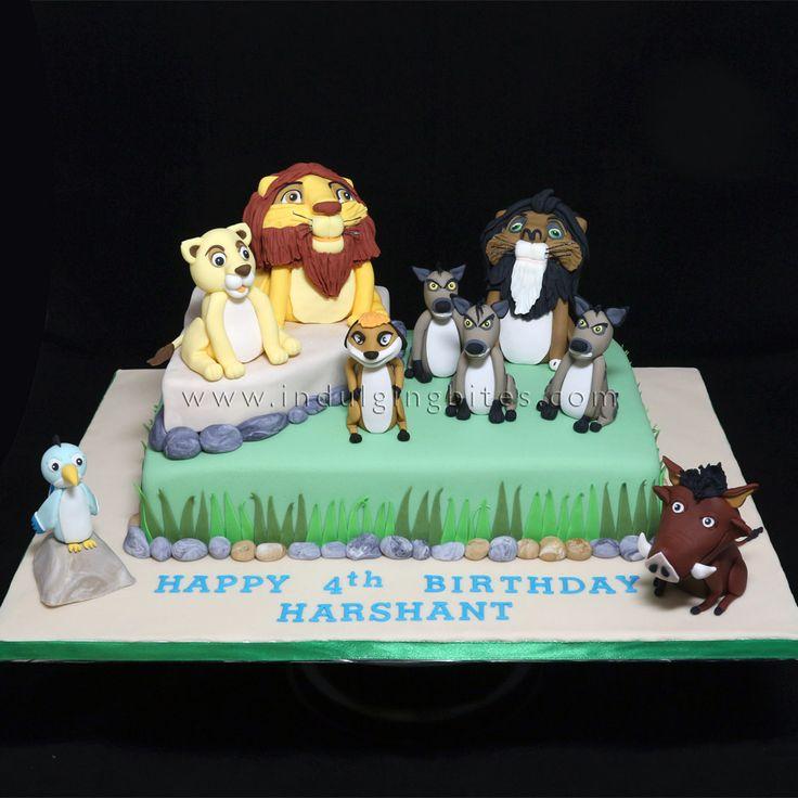 Lion King Inspired Birthday Celebration Cake