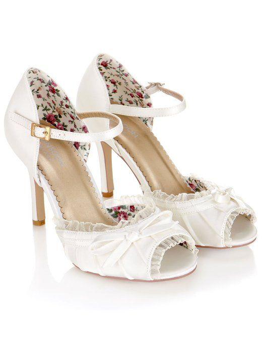 Monsoon Damen Colette Schuh mit Vintage-Schleife: Amazon.de: Bekleidung