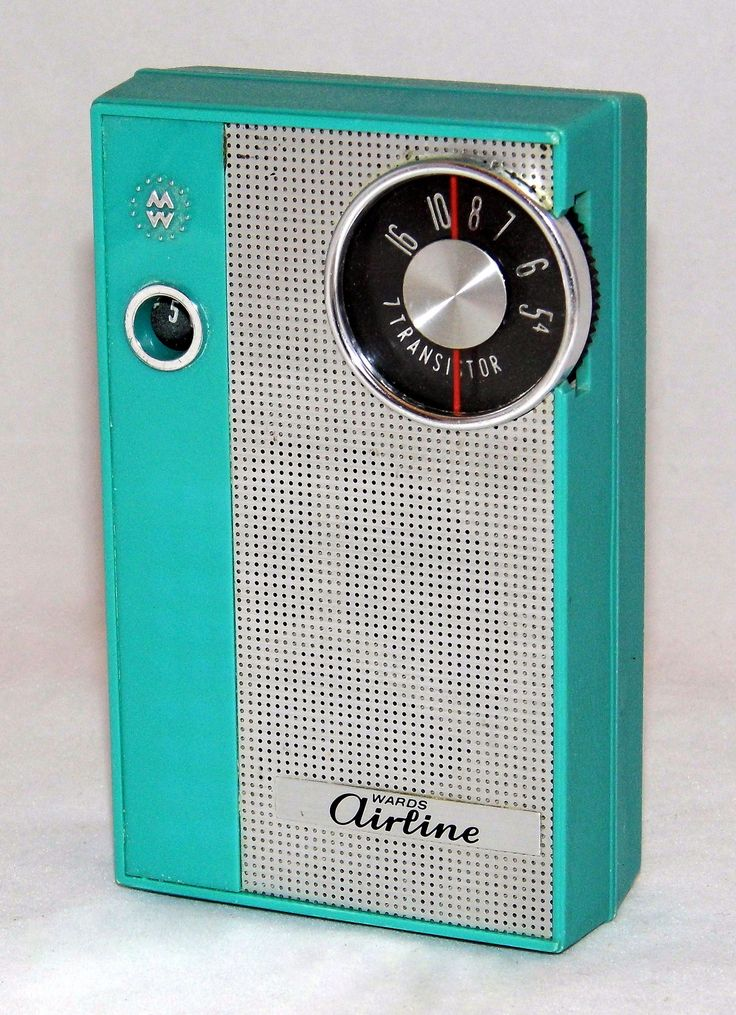 Vintage Airline Am Transistor Radio  Model Gen 1157a  Sold By Montgomery Ward  Made In Japan