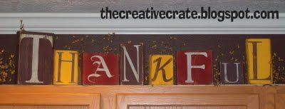 thankful bocks: Art Crafts, Diy Crafts, Arts Crafts, Crafts Blocks, Fall Ideas, Thanksgiving Decor, Fall Blocks, Creative Crates, Holidays Thanksgiving