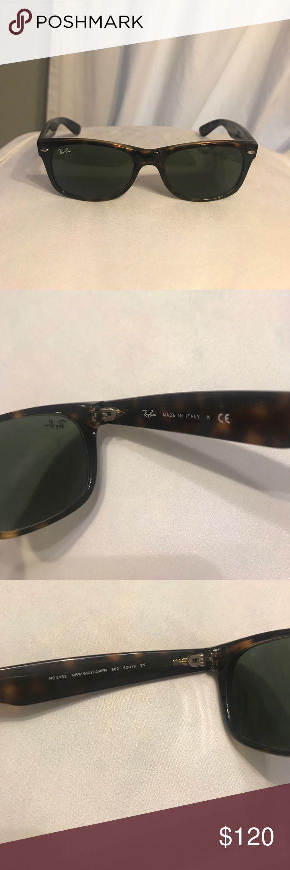 Ray-Ban NEVER WORN Sunglasses NEWWAYFARER *NEVER WORN* RB2132 New Wayfarer 902 52-18 Tortoise frame/ black lenses Ray-Ban Accessories Sunglasses