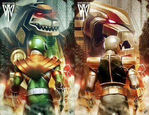 Mighty Morphin' Green & White Ranger