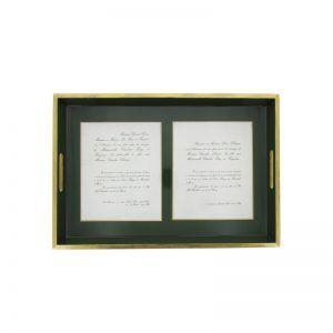 Plateau vernis et personnalisé avec un faire-part de mariage ou de photo. Parfait pour un cadeau original et personnalisé. by Matao