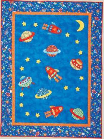 17 best images about baby quilts on pinterest kid quilts for Space themed fabric