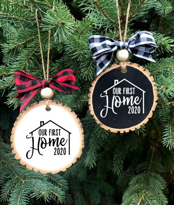 Our First Home Ornament New Home Wood Slice Ornament First Etsy In 2020 Teacher Ornaments Teacher Christmas Gifts Teacher Christmas