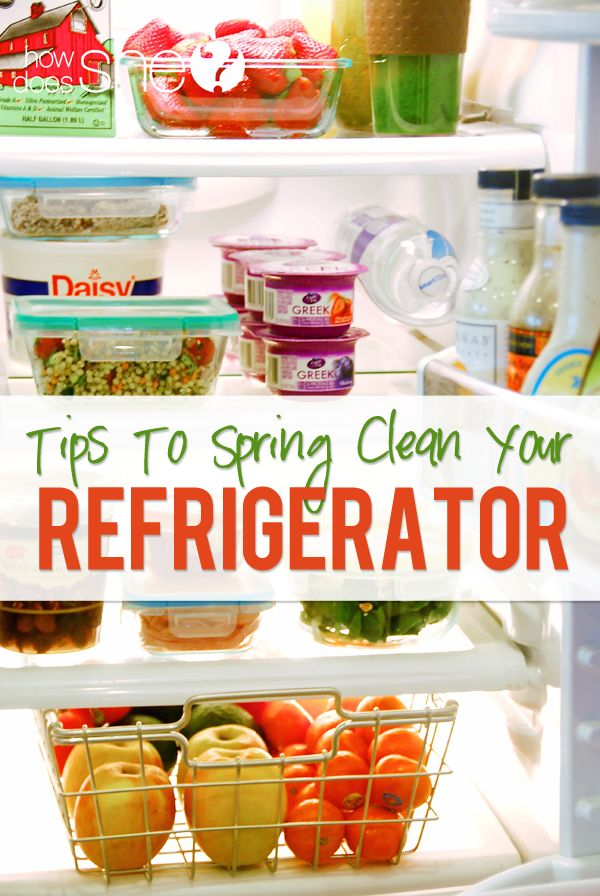 Spring Clean Out Your Refrigerator-Tips for healthy snacks and meals | How Does She