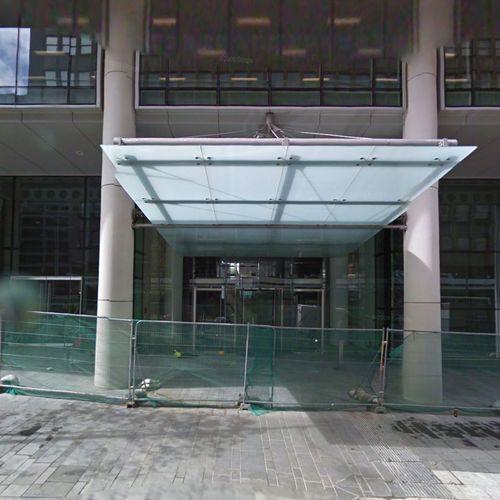 Marquesina de entrada / para edificio comercial / de aluminio / con cobertura de vidrio FOCCHI